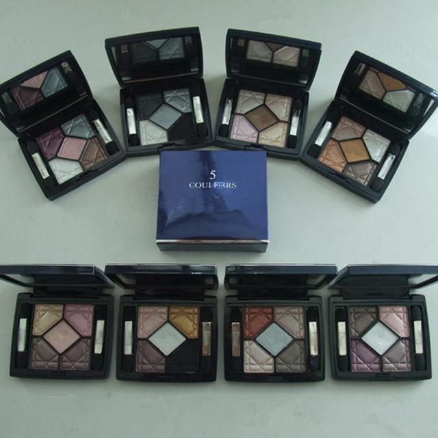 Pro 5 colores de sombra de ojos conjunto de tonos tierra cosméticos maquillaje resistente al agua con mirror long lasting sombra de ojos cosmético de la gama set