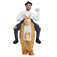 Novelty Kangaroo Ride On Mascot Costumes Carry Back Fun Animal Pants Fancy Dress Up Oktoberfest Halloween