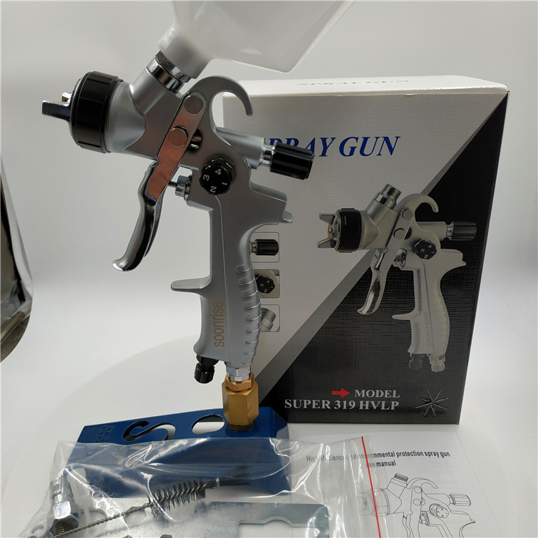 Free Shipping, SOONRISE 319 Car Painting Gun, HVLP Spray Gun,600cc Plastic Cup Gravity Feed Type,1.3mm Nozzle
