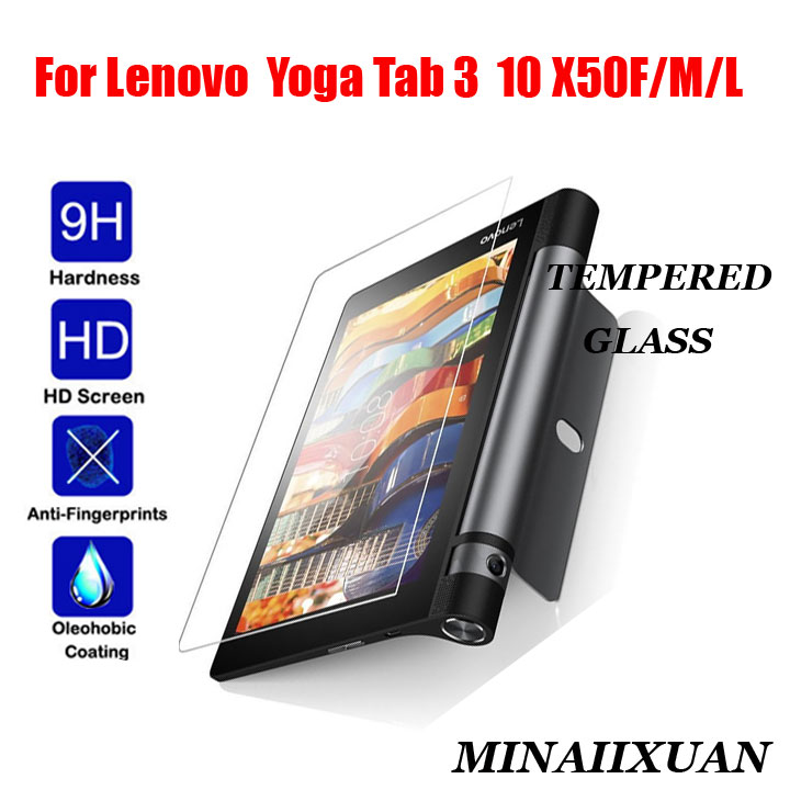 Explosion-Proof Shockproof Tempered Glass For Lenovo YOGA Tab 3 10 X50F X50M X50L 10.0
