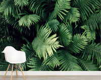 Customize Any Size 3D Mural Wallpaper Tropical Plant Living Room Room Background Wall Wallpaper For Walls