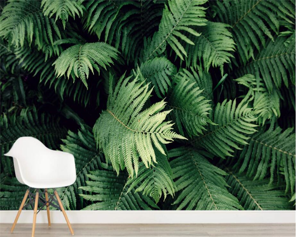 Customize any size 3D mural wallpaper tropical plant living room room background wall wallpaper for walls 3 d behang Beibehang