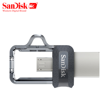 Genuine SanDisk Ultra Dual OTG usb flash drive SDD3 130M/S 16gb 32gb 64gb USB 3.0 pen Drive for all Android phone/table PC(China)