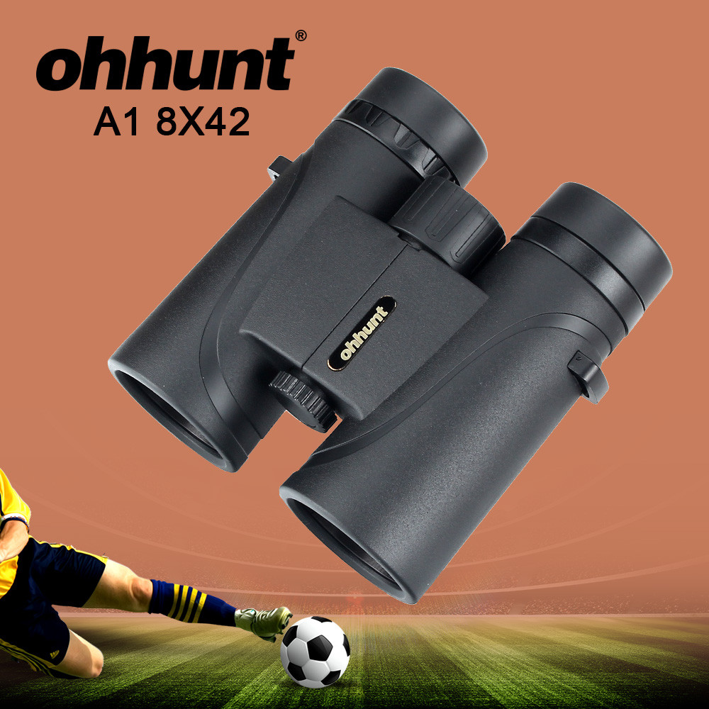 ohhunt A1 8X42 Hunting Binoculars Waterproof Fogproof Telescope Powerful Bright Optics for Football Camping Hiking Binocular ohhunt a1 8x42 binoculars telescope hunting optics bak4 porro prism waterproof binocular with dust cover hiking outdoor camping
