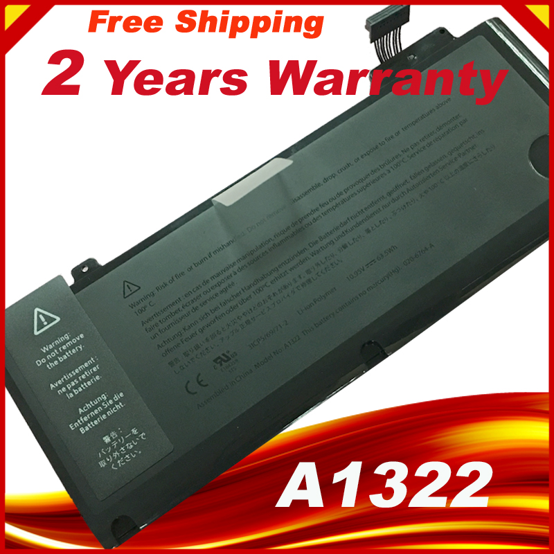 New A1322 Battery 10.95V 63.5Wh For Macbook Pro 13 Inch A1278 2009 2010 2011 2012