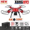 Syma x8hg x8hw x8g x8 rc drone quadcopter rc profissional com 4 K/16MP Câmera Wi-fi 2.4G 6-Axis RC Helicopter RTF VS MJX X102H