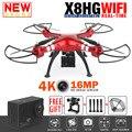 Syma x8hg x8hw x8g x8 rc quadcopter rc drone profesional con 4 K/16MP Cámara de WiFi 2.4G 6-Axis RTF RC Helicóptero VS MJX X102H