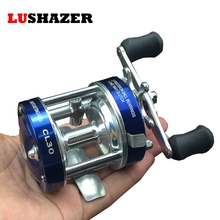 1pcs Metal fishing reel golden and blue right hand available210g/pcs (wm-30# 2+1BB) reel baitcasting free shipping