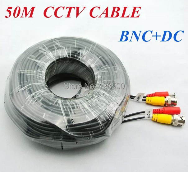 ФОТО Free Shipping 50M BNC Video Power DC Cable CCTV DVR 50 METER Extension Cable