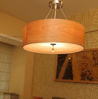 Solid Wooden Natural potassium Ambrose Nordic Wind idyllic bedroom den living room pendant light wood grain creative