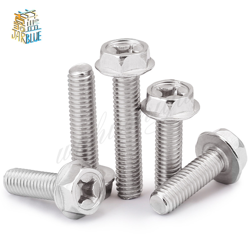 15pcs 1//4-20UNC A2 304 Stainless Steel Hex Cap Screws Hexagon Head Bolts Silver