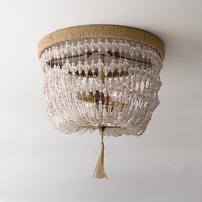 Beaded Crystal Glass Vintage Smoky Chandelier Lighting Candle Chandeliers Pendant Lamp Hanging Light For Dining Room In From Lights