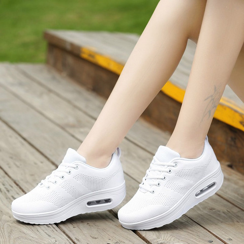 VTOTA Women Wedges Shoes Mesh Breathable White Shoes Fashion Spring Summer Women Chunky Sneakers zapatillas mujer Casual Shoes L Karachi