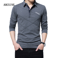 ARCSINX 5XL Polo Shirt Men Plus Size 3XL 4XL 2017 Autumn Winter Brand Men S Polo