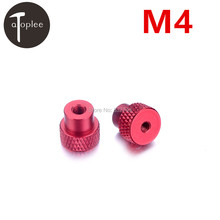 NEW 2 PCS M4 Knurled Thumb Nut for Locking Airflame Tripod Aluminium Alloy M4 Nuts Red Color Metalworking Tools