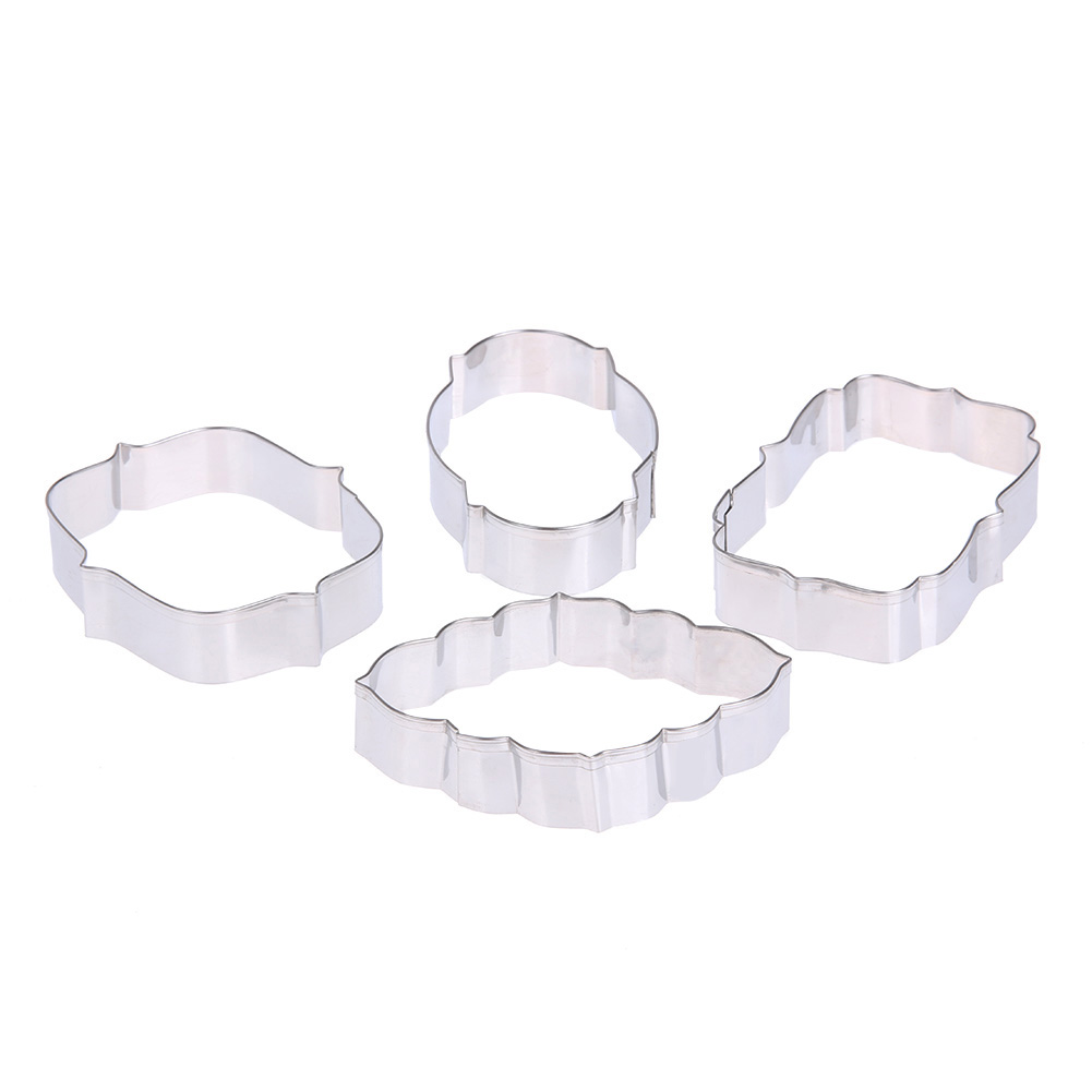 1 Set (4pcs) Cookies Pastry Fondant Mold Stainless steel Cake Mold Sugarcraft Biscuit Cu ...