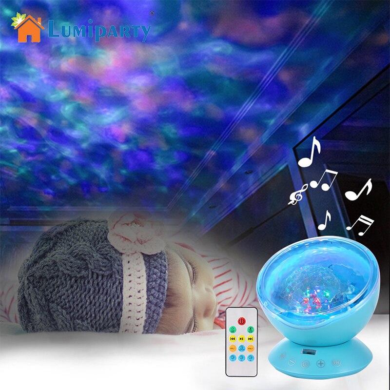 LumiParty Ozean Welle Starry Sky Aurora LED Nachtlicht Projektor Luminaria Neuheit Lampe USB Nachtlicht Illusion Für Baby Kind