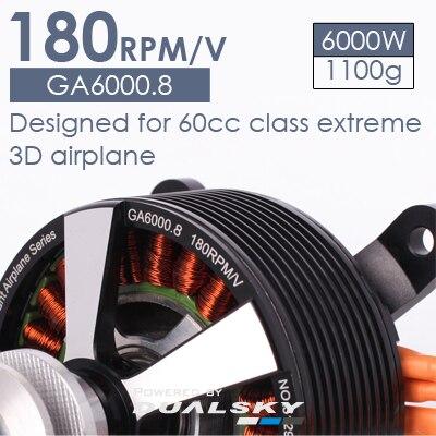 Moteur sans balais modèle avion à voilure fixe GA6000.8 moteur à essence 50cc-60cc moteur haute puissance 6000 W