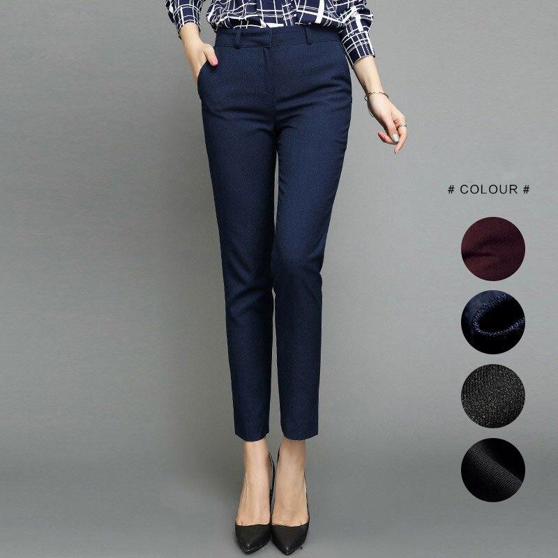 Women'S Autumn Female Pants High Waist Business Ankle Length Casual Trousers Plus Size Women Pants Harem Elegant A5103