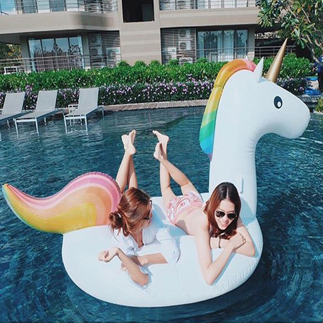Plastic Pools For Kids 270x140cm plastic swimming pool toys unicorn swim ring pools adult