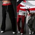 Бесплатная Доставка Высокое Качество Горячей Продвижение 2016 Черный Серый Красный Повседневная мужские Штаны Мода Брюки Дизайна Моды Мужской Брюки