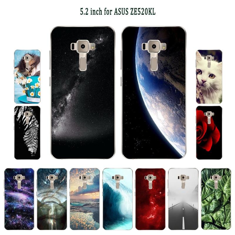 Phone Case for Asus Zenfone 3 ZE520KL Sleeping Painted Back Cover Cartoon Mobile Phone for Asus Zenfone 3 ZE520KL Case