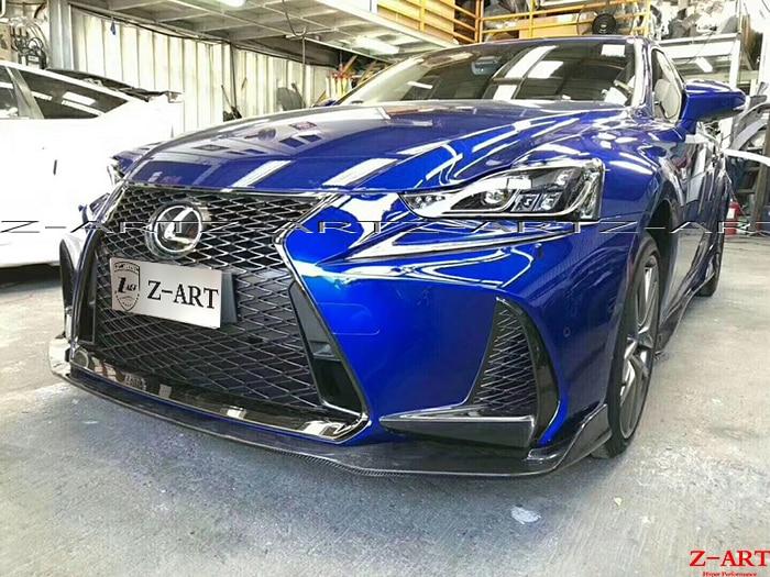 Z-ART fibra de carbono aerokit para Lexus es 2017 fibra de carbono frente labio + taloneras + difusor trasero divisor alerón trasero