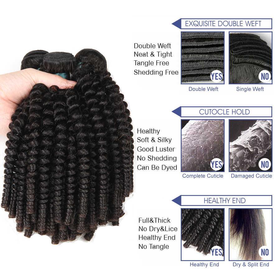 Satai афро кудрявый вьющиеся волосы человеческих волос Связки перуанский волос 8-26 дюймов натуральный Цвет 100% Волосы remy 1 шт. Бесплатная доставка