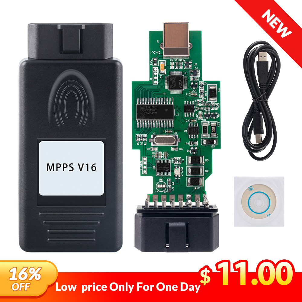 MPPS V16 V13.02 2019 Professionnel ECU Chip Tuning MPPS V16.1.02 Cable For EDC15 EDC16 EDC17 Inkl CHECKSUM CAN Flasher Remapper(China)