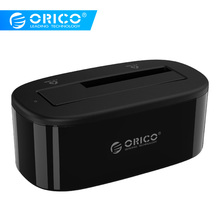 ORICO USB 3.0 to SATA External Hard Drive Docking Station for 2.5/3.5 inch HDD/SSD [Support UASP and 8TB ] (6218US3)