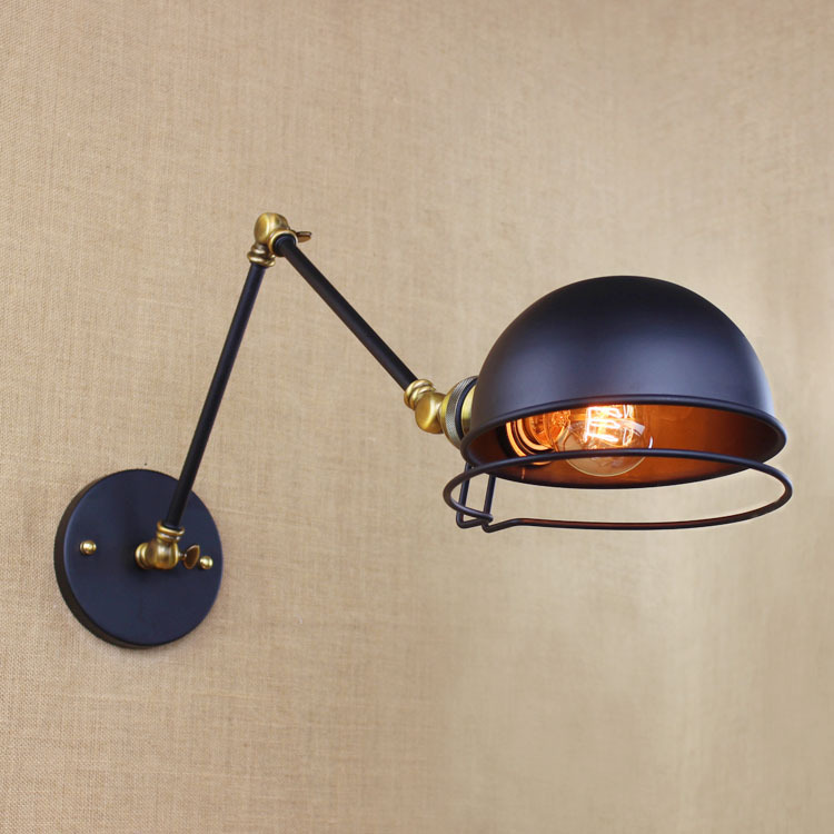 Lamps & Shades Wall Lamps Loft Style American Industrial Creative Iron Vintage Wall Light With Two Swing Mechanical Arm Balcony Wall Light Free Shipping At All Costs