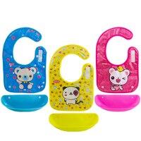 Baby Bib Animal Girls Plastic Feminina Skip Hot Zoo Newborn Cute Breastplate PVC Feeding Bibs Baby