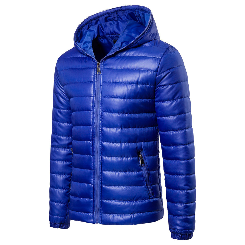 92ea3793b4e New 2018 Basic Winter Jacket Men Warm Cotton Down Padded Coat Parkas Hooded  Solid Color Harajuku Men s Quilted Outerwear