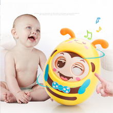 Детские игрушки 0-12 месяцев Детские погремушки мигающий тумблер дверной звонок обучение забавные игрушки для детей Подарки Para Bebe игрушка Рождественский подарок