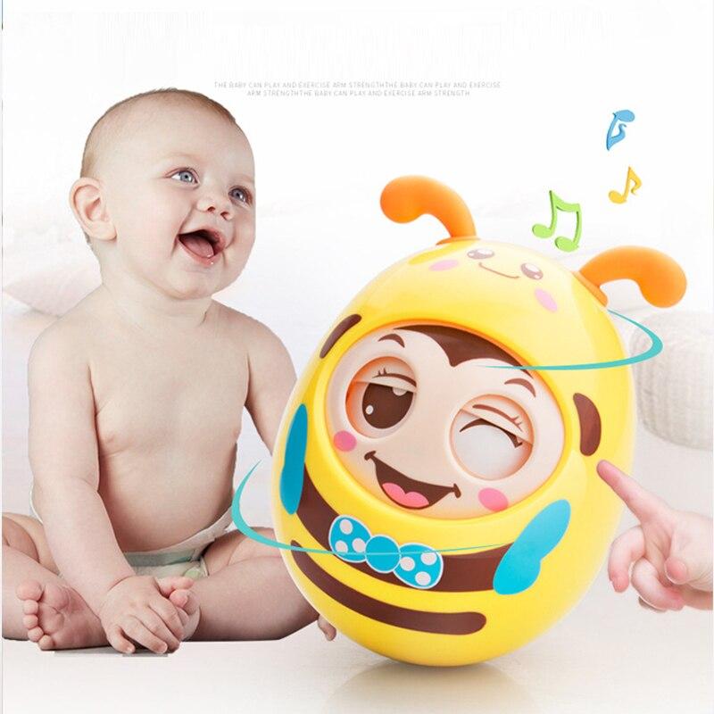Детские игрушки 0-12 месяцев Детские погремушки мигание кукла-неваляшка колокол обучение забавные игрушки для ребенка Подарки Para Bebe игрушки ...
