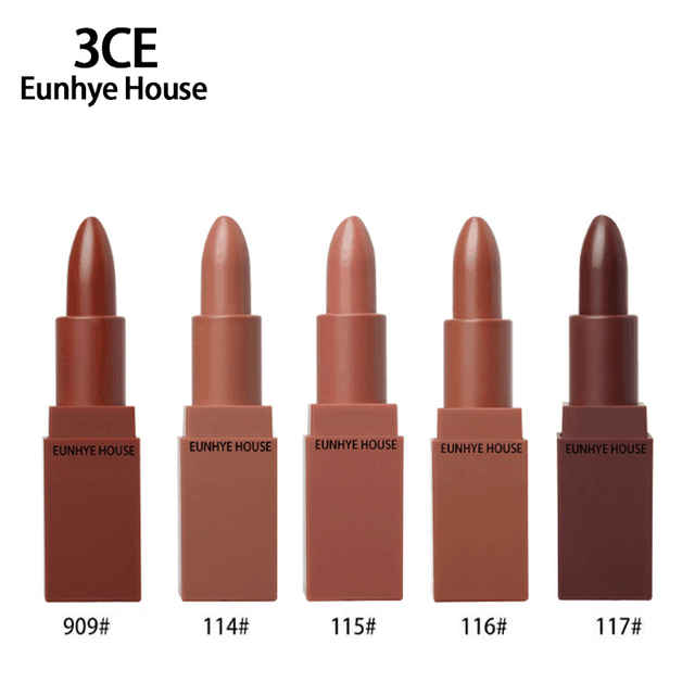 3CE Eunhye House Matte Lipstick Long Lasting Lip Gross Waterproof Cosmetics Best Selling 2017 For Girls Women Lip Makeup