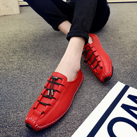 A Unique Casual Leather Shoes Young Men Light Personality Fashion Classic Shoes