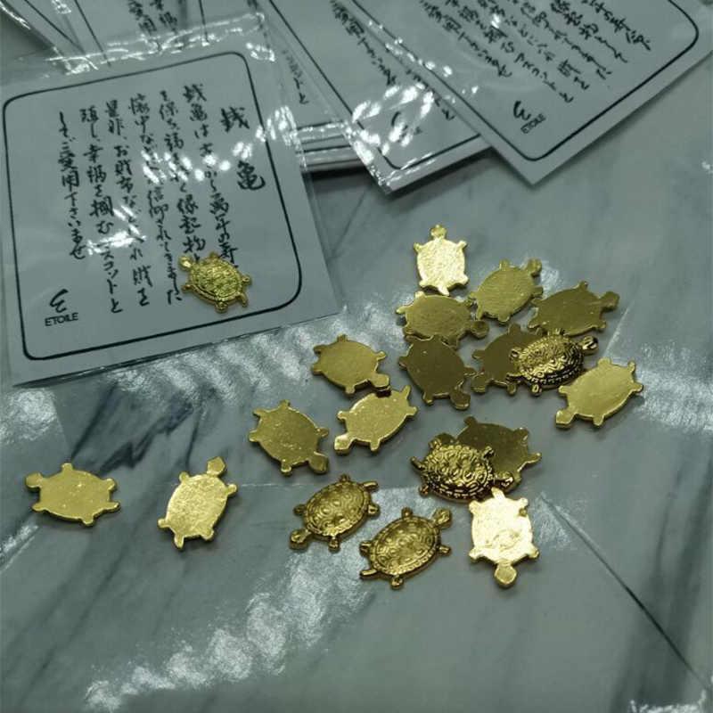 Tortuga japonesa linda del dinero Asakusa templo pequeña tortuga dorada que guarda la oración por la fortuna accesorios de joyería para el hogar