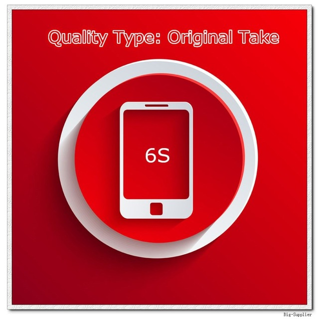 5 pçs/lote tomada Original de telefone A tela de qualidade para 6 S Display LCD preto / branco