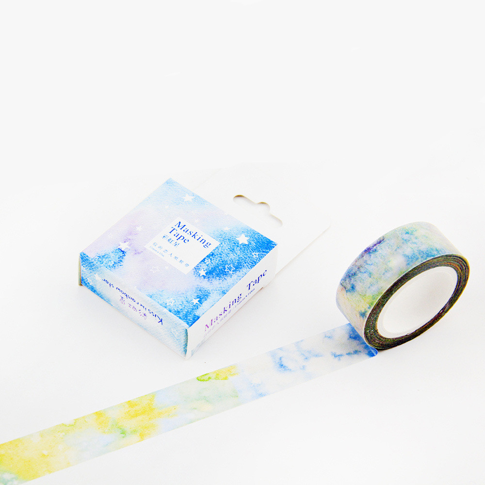 gift wrap stationery order packing Rainbow 15mm washi tape 10M
