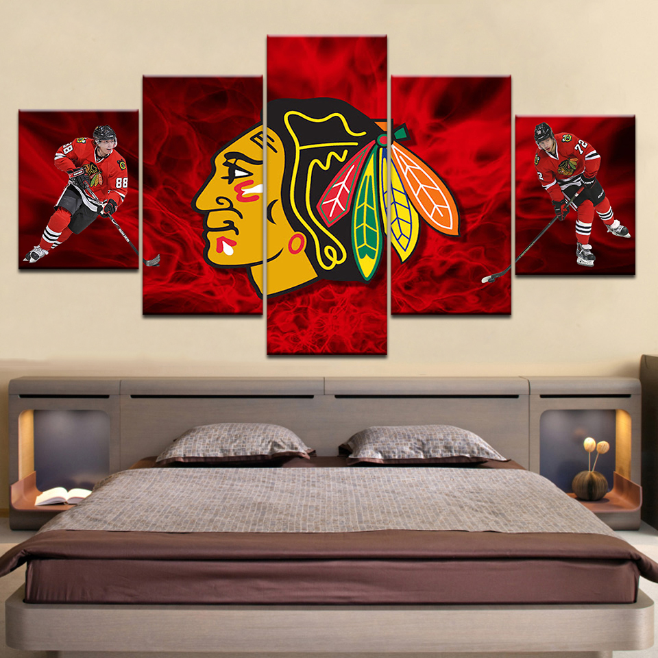 uk availability 6f4df 5b682 Chicago Blackhawks Bedroom Decor