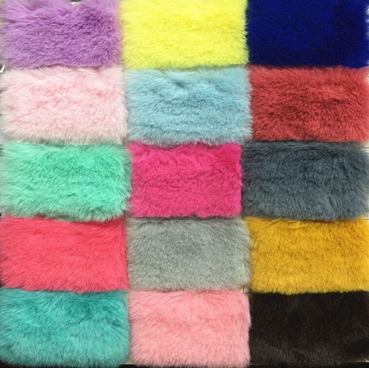 Gute qualität Rex Kaninchen Fell Plüsch Stoff, pile über 1 cm faux pelz, Zähler display hintergrund tuch, 160 cm * 50 cm/stücke