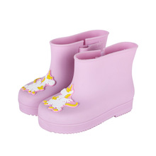 Mini Melissa  Cute Unicorn Rain Boots Girls Water Shoes 2019 New Toddler Rain Boots Melissa Jelly Waterproof 12.5-17.5CM