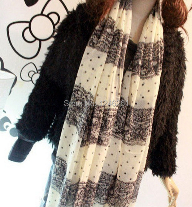 Wholesale price Spring New female Korean colorful point long Princess Lace dot women Scarf Shawl scarves160*70