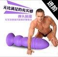 Новый чистого силикона фиолетовый большие мягкие анальные шарики butt plug массаж простаты g-spot стимулятора влагалища задницу большой анальный плагин секс игрушки