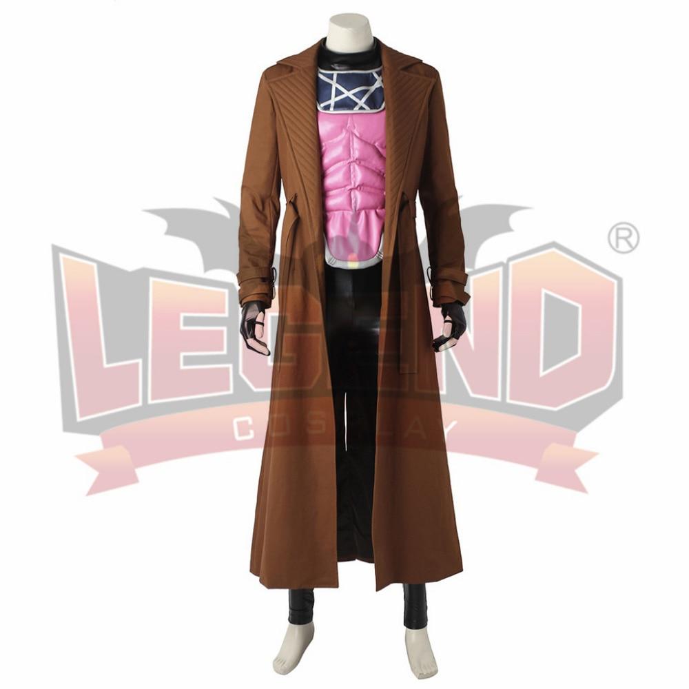 X-Men Gambit Cosplay Costume Adult Halloween Costumes Men Superhero Cosplay Costume Custom Made
