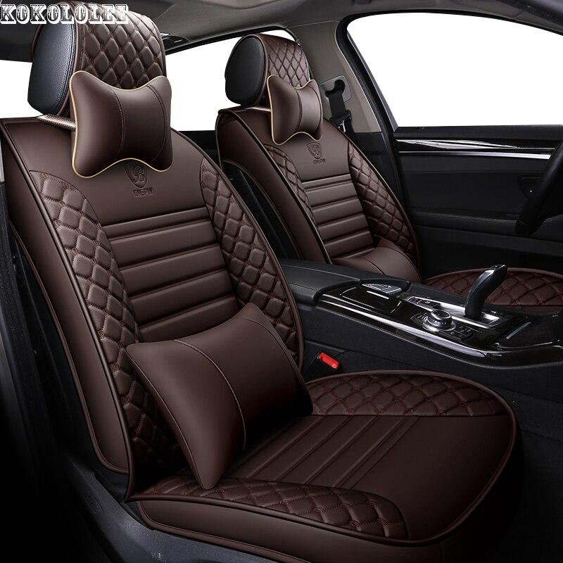 [kokololee] pu leather car seat cover for lifan solano x50 cadillac escalade toyota vitz mini changan cs35 auto accessories