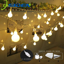 String Lights Hoilday Lighting LED Ball 5V USB New Year Xmas Outdoor Indoor Decorative Fairy Lights Christmas Fairy Lamp(China)