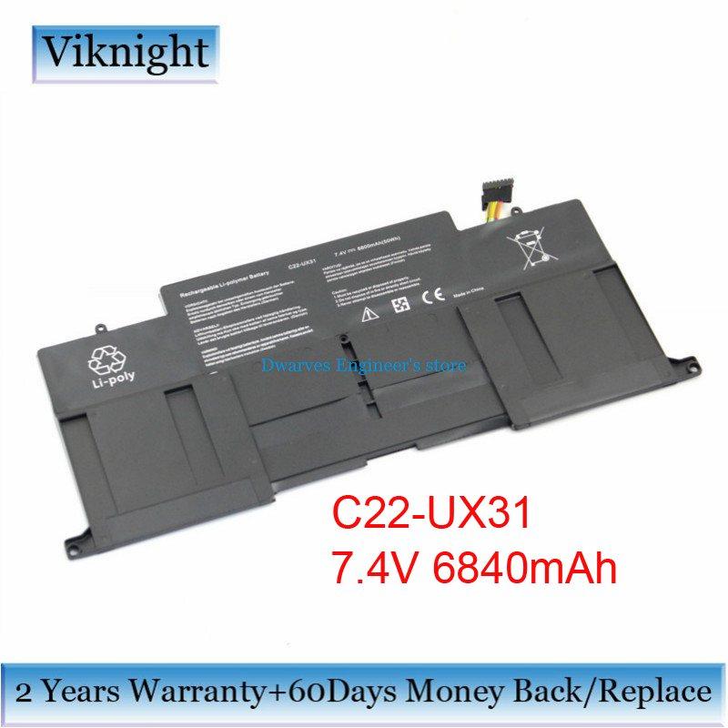 все цены на  C22-UX31 Replacement Battery For Asus UX31 Ultrabook UX31A Zenbook Ux31 Series Laptop Battery C22-UX31 C23-UX31 6800mAh 50Wh  онлайн