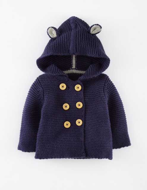 Moda Primavera Roupas de Outono Crianças Camisolas do Casaco de Malha Casaco Lindo Bebê